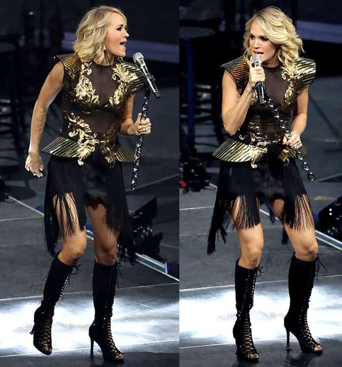 carrie-underwood-black-gold-sheer-dress