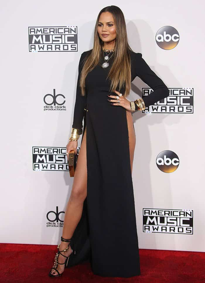Chrissy Teigen Goes Commando In Dsquared2 Barbed Wire