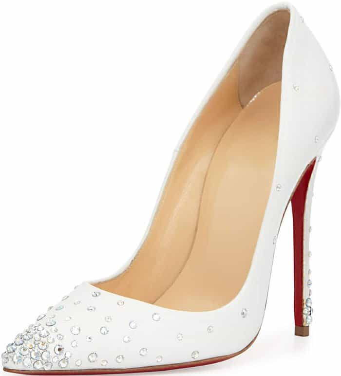 Christian Louboutin Degrastrass pumps in white leather