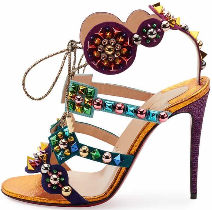 Christian Louboutin's Glittering 'Kaleikita' Spiked Sandals