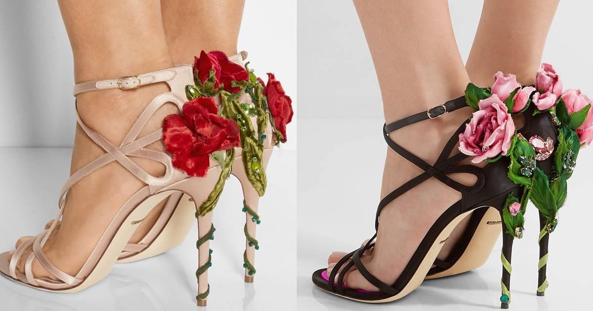91bff2c8113 Dolce & Gabbana's Playful Climbing Rose Sandals