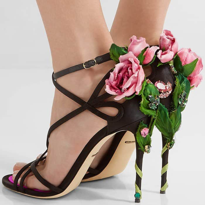 Dolce Amp Gabbana S Playful Climbing Rose Sandals