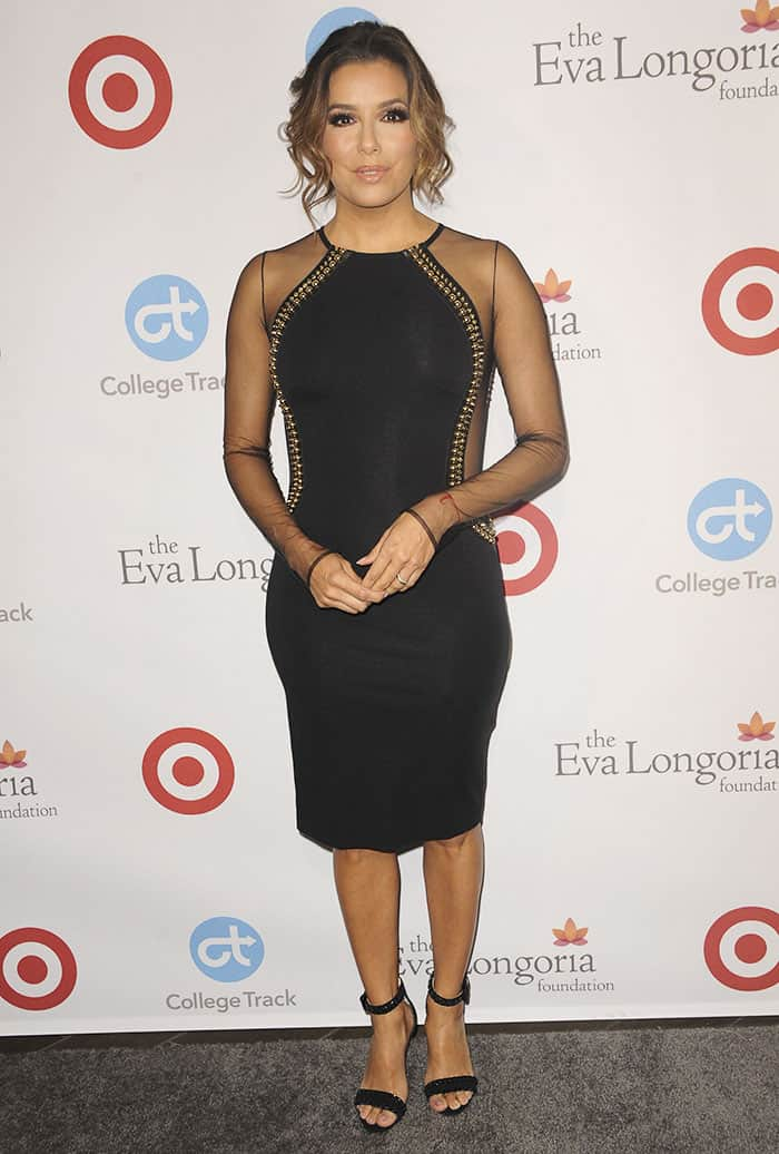 Eva Longoria hosts her self-named foundation's dinner in Beverly Hills on November 10, 2016