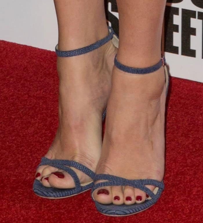 Gemma Arterton Shows Off In Jimmy Choo Sandals And Erdem Dress