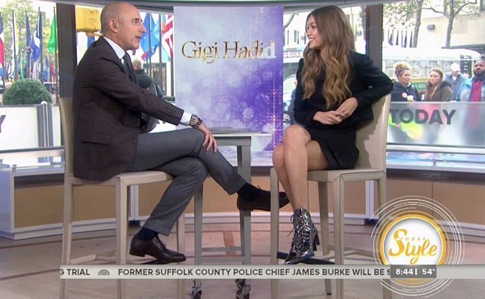 Gigi Hadid during an appearance on NBC's 'Today Show'