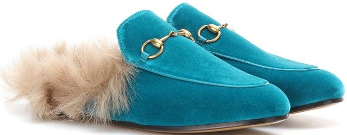 Gucci Princetown fur slides