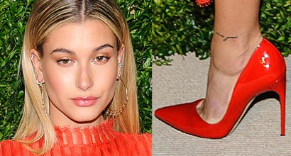 db642d1d6342 Hailey Baldwin Rocks Tangerine Dress and Brian Atwood  Marella  Pumps