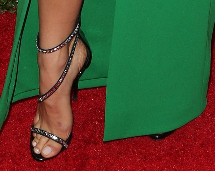 Jenna Dewan Tatum pairs her gown with Giuseppe Zanotti Calliope sandals for the Glamour Women of the Year Awards