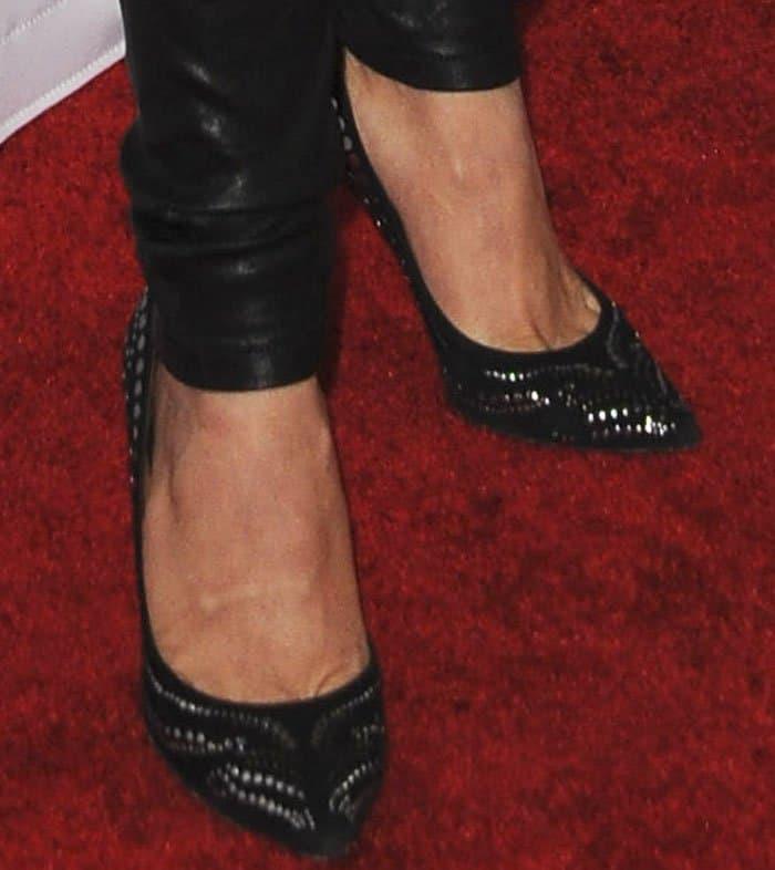 "Julianne Hough's hot feet in beautiful Isabel Marant ""Stanley"" studded pumps"