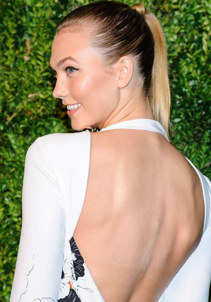 Karlie Kloss shows off her sexy back at the 13th annual CFDA/Vogue Fashion Fund Awards