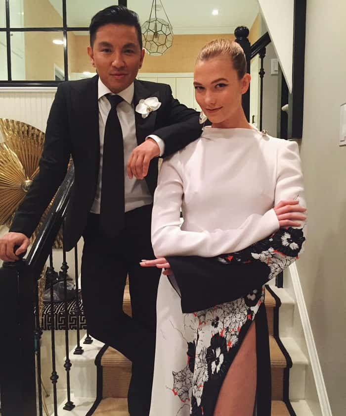 Karlie uploaded a photo of her and Prabal right before their CFDA x Vogue date night