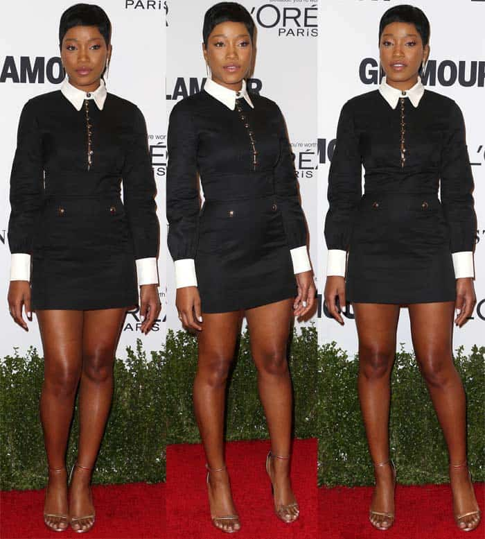 Keke Palmer flaunts her legs attends at the Glamour Women Of The Year 2016