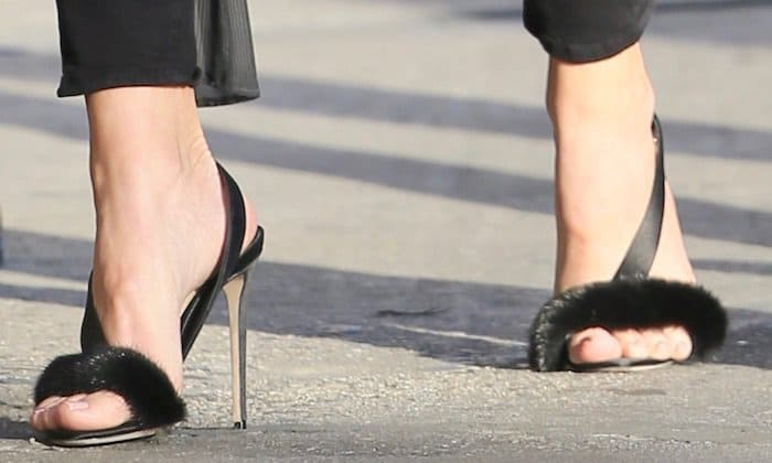 "Khloe Kardashian's hot feet in Olgana Paris ""L'Amazone"" sandals"