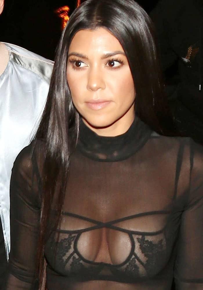Kourtney Kardashian flaunts cleavage inbra top from Agent Provocateur