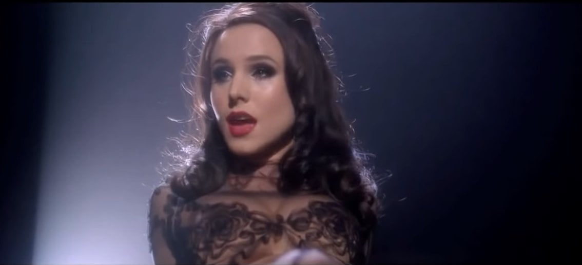 Long John Blues was performed by Kirsten Bell and sang by Megan Mullally in the 2010 American backstage musical film Burlesque