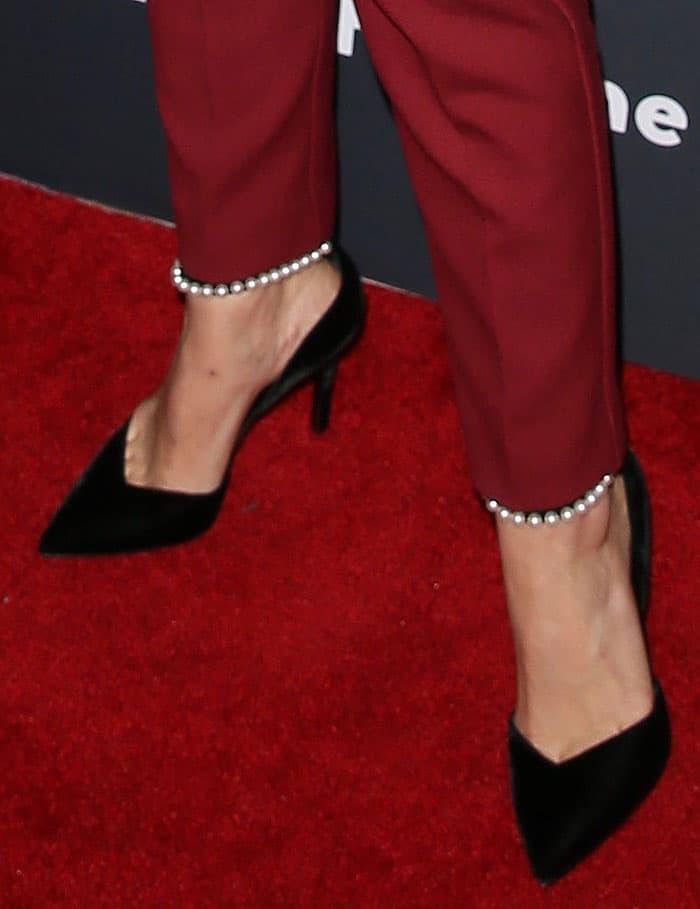 Kristen Bell shows off her feet in Stella Luna pumps