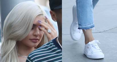 e0a360960e4d Kylie Jenner Dates Tyga in Classic White Puma Sneakers