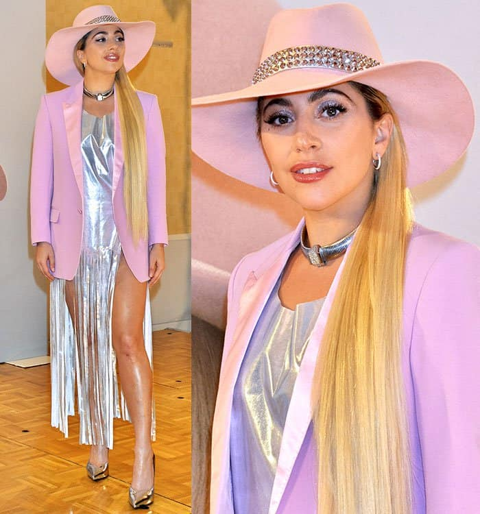 """Lady Gaga attends a photocall for her album """"Joanne"""" at The Ritz-Carlton Tokyo in Japan on November 2, 2016"""