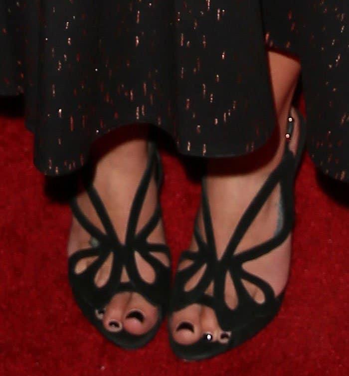 Lea Michele in Sophia Webster sandals
