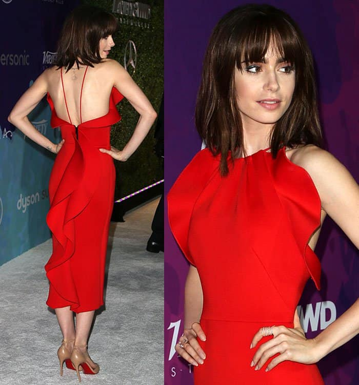 Lily Collins at the 2nd Annual StyleMakers Awards hosted by Variety and WWD in West Hollywood on November 17, 2016