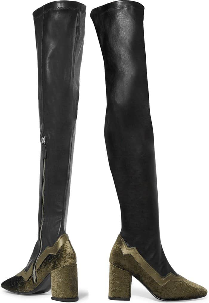 mr-by-man-repeller-the-im-really-here-to-party-leather-and-embossed-velvet-over-the-knee-boots