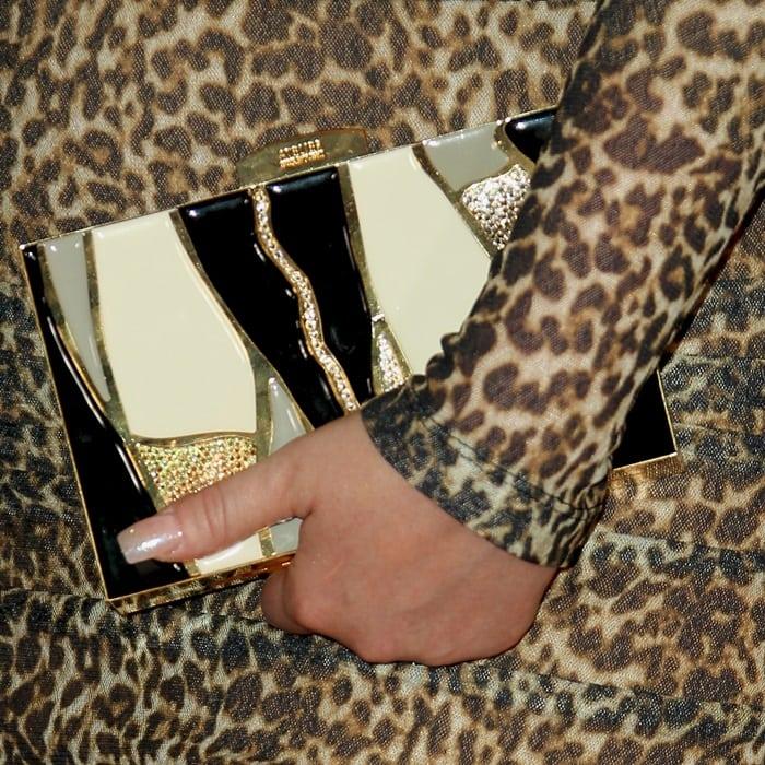 Meghan Trainor's Atelier Swarovski 'Kintsugi' box clutch