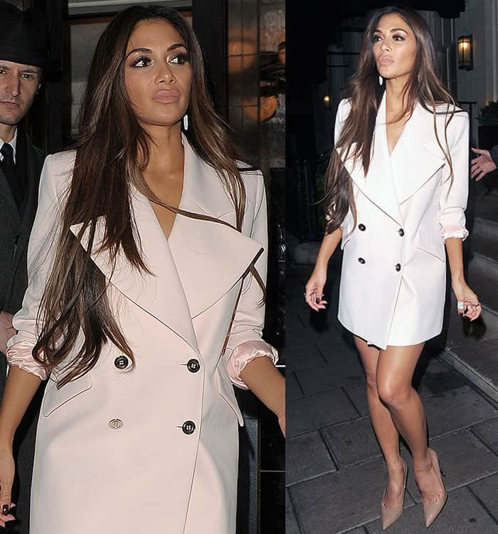 nicole-scherzinger-double-breasted-jacket-dress