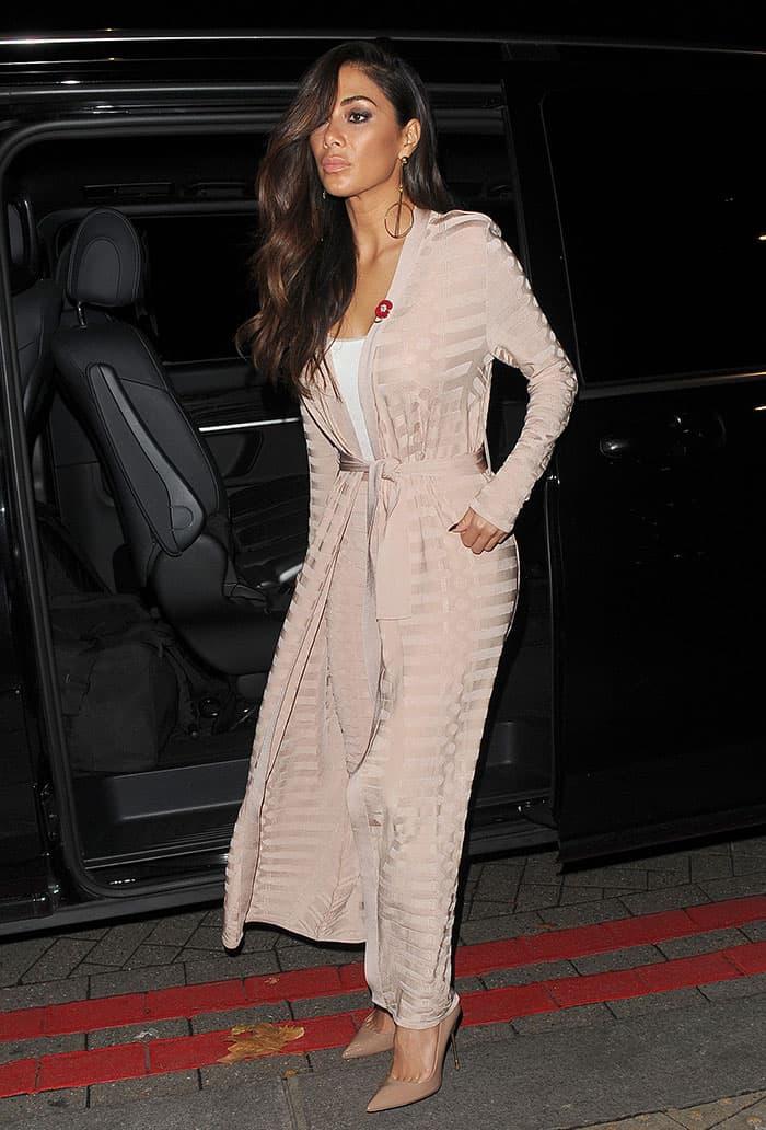 nicole-scherzinger-soft-pink-blush-coat-pants