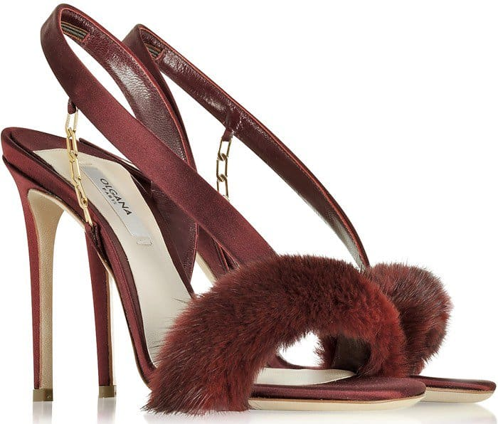 Olgana Paris L'Amazone Sandals Burgundy
