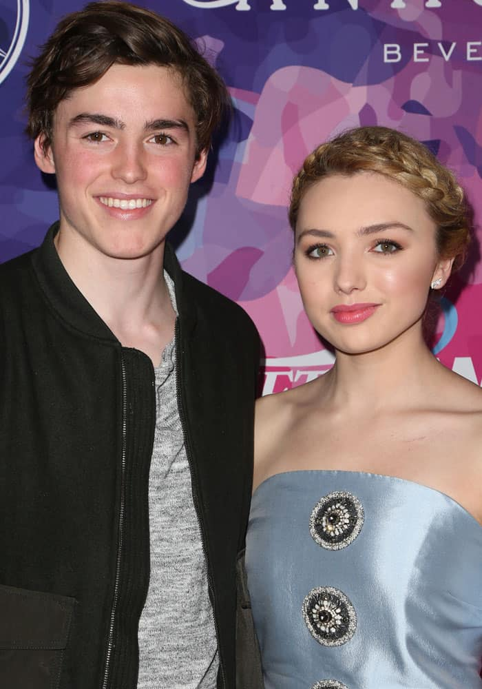 Peyton poses with her equally gorgeous brother, Spencer List