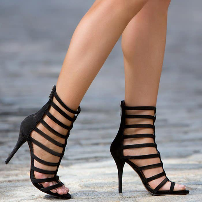 We love these cage sandals fromSchutz that are cut from luxurious nubuck