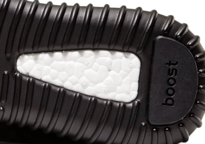 On the bottom of the Boost, there's a white exposed part that has flower-like embossing