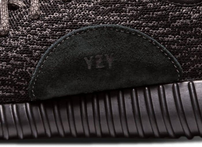 The Adidas logo and YZY stamp is placed on the inner sides of each Yeezy pair