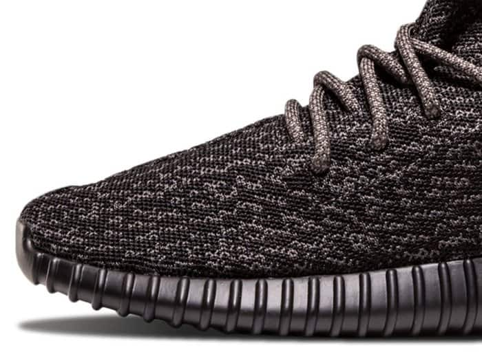 The Yeezy Boost 350 has a signature wave-like pattern on its Primeknit uppers