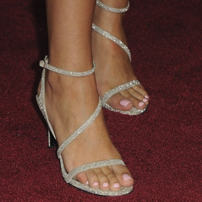 Alexandra Rose Raisman's sexy feet in glittering shoes
