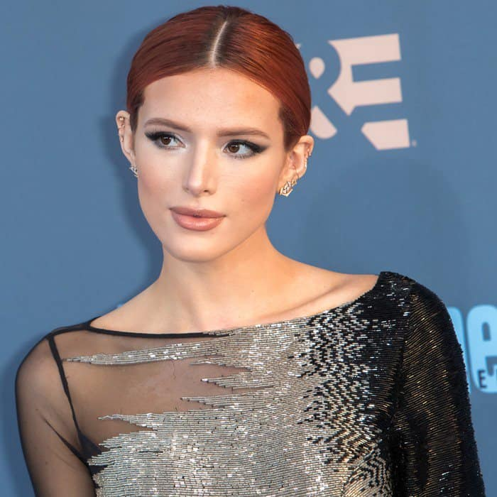 Bella Thorne attending the 22nd Annual Critics' Choice Awards at Barker Hangar in Santa Monica on December 11, 2016