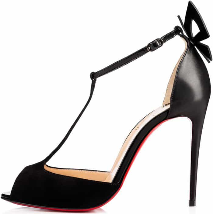 Christian Louboutin Aribak Bow-Embellished T-Bar Sandals