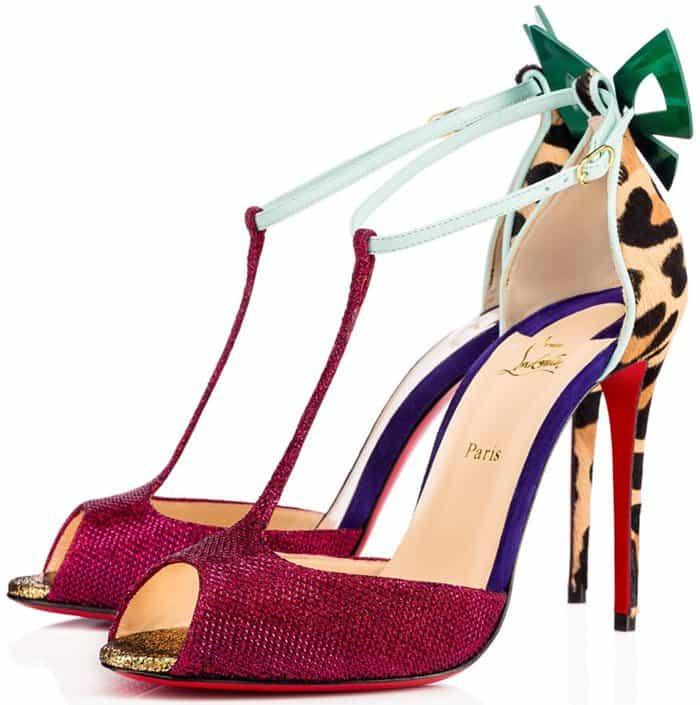 Christian Louboutin 'Aribak' Bow-Embellished T-Bar Sandals