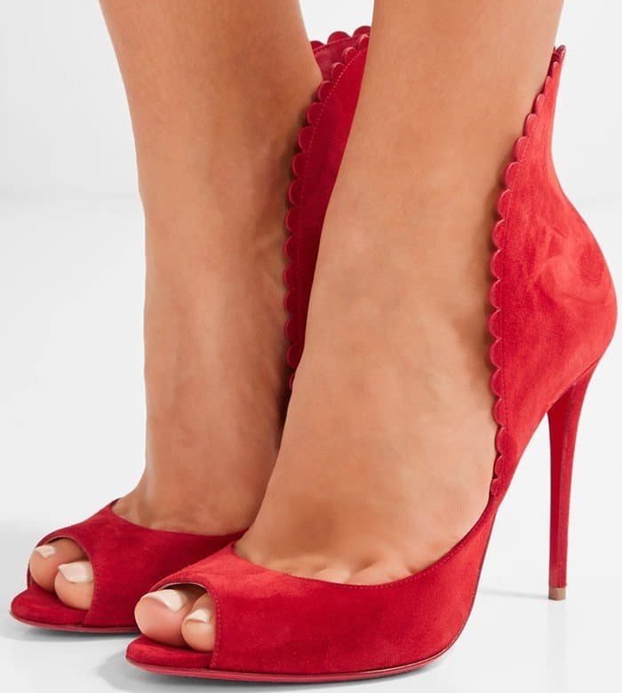 632734830b8 Exquisite Pijonina Flared Collar Pumps by Christian Louboutin