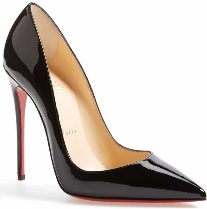 Christian Louboutin 'So Kate' black patent pumps