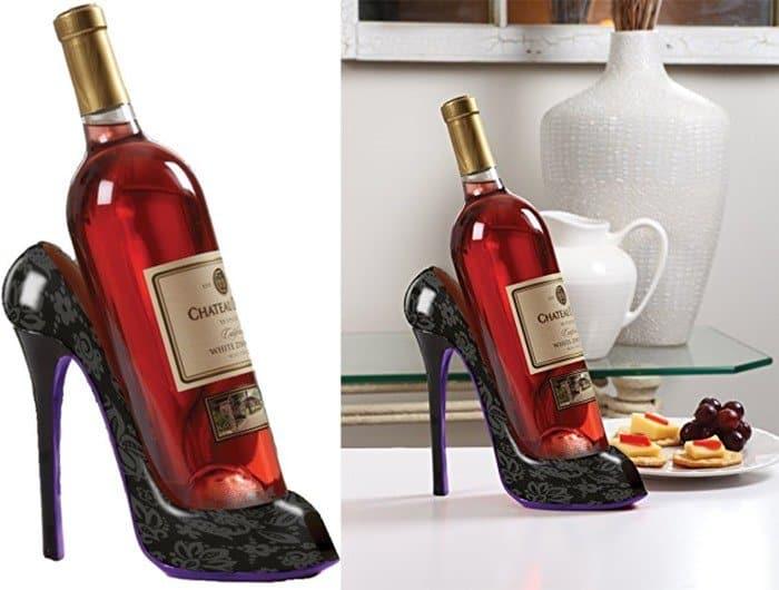 Elegant High Heel Shoe Wine Bottle Holder