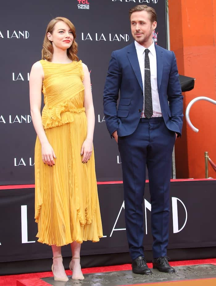 Emma Stone dirtied up her pumps with her co-star Ryan Gosling