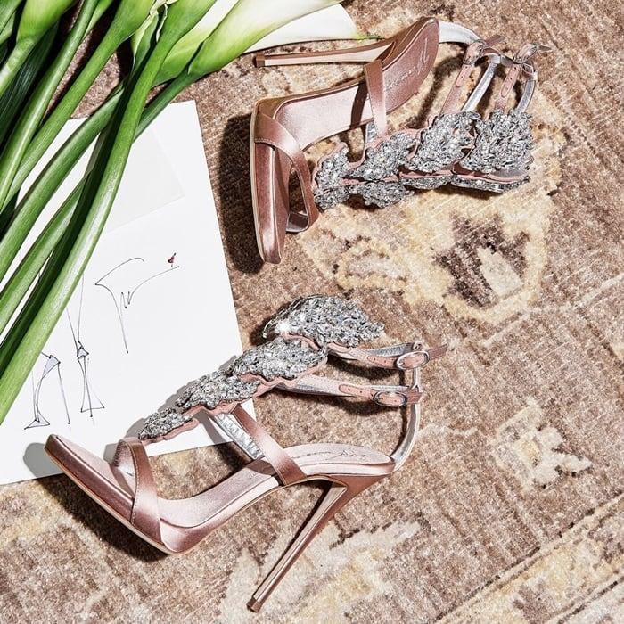 Giuseppe Zanotti's Crystal-Embellished Cruel Sandals