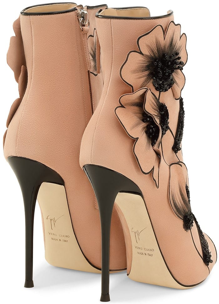Botticelli-Inspired Pink Suede  June  Boots by Giuseppe Zanotti d17cdb652aa5