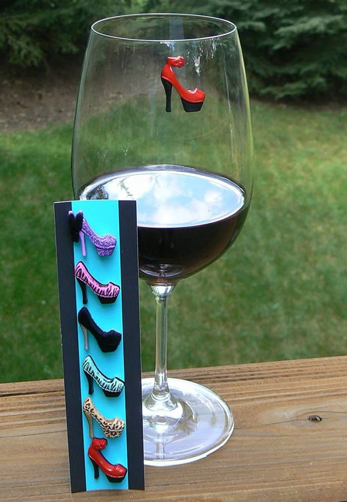 High Heels Wine Glass Charms & Magnetic Drink Markers