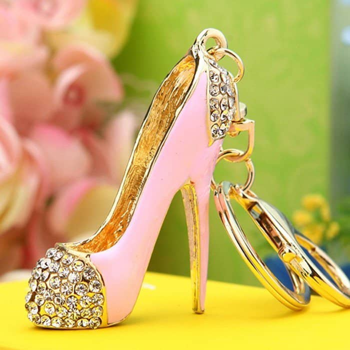 High Heel Shoe Rhinestone Bag or Car Keychain
