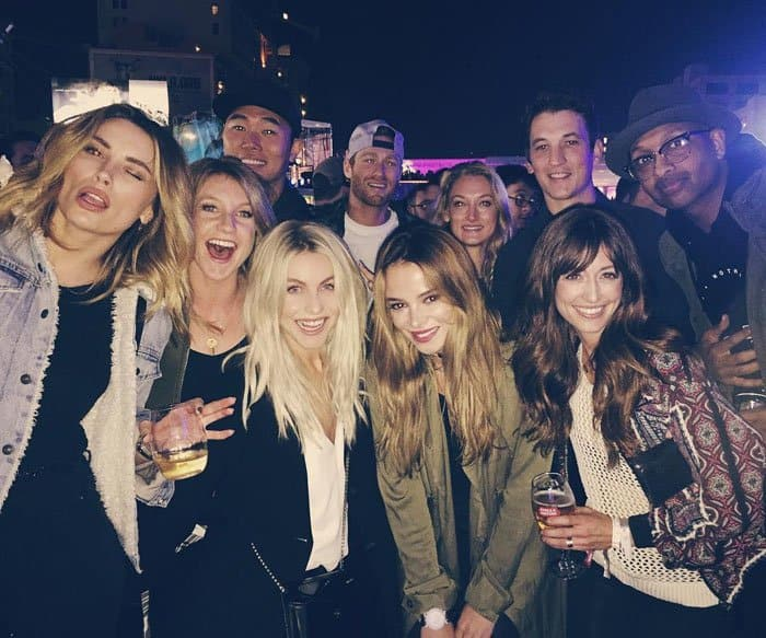 Julianne with her friends at the Airbnb Open in Los Angeles