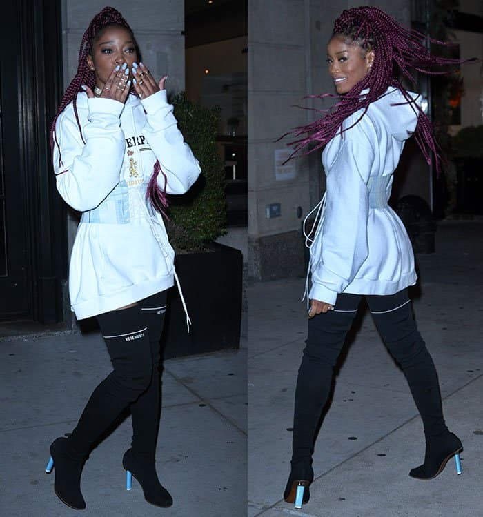 keke-palmer-white-hoodie-lace-up-belt-black-boots