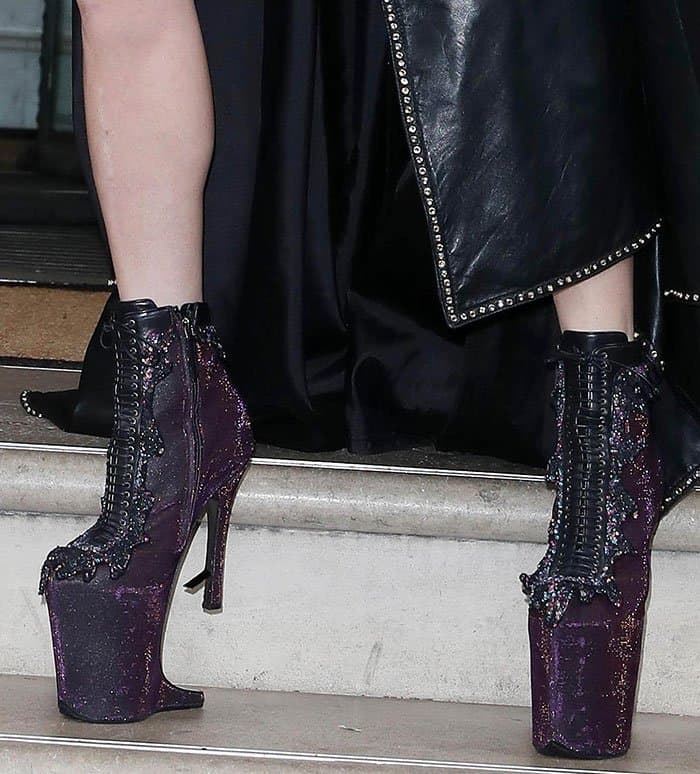 Lady Gaga is not one to shy away from bizarre footwear