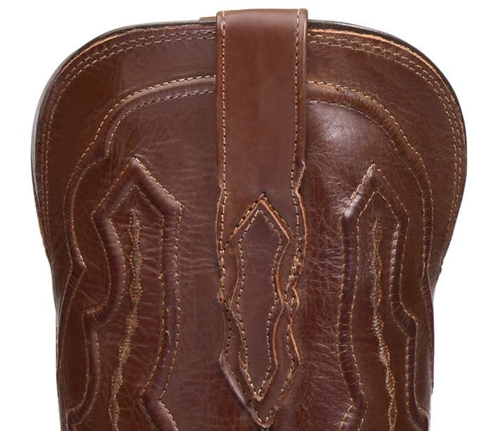 Pay close attention to the stitching details of a Lucchese boot